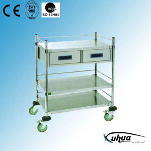 Two Drawers Hospital Trolley (Q-2) pictures & photos
