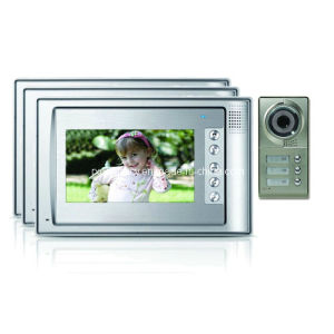 "7 Inch Digital HD Building Intercom with Outdoor 600tvl Camera 7"" Color LCD Display for 3 Familes Video (RX-701C4-3)"