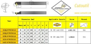 S16q-Svwcr/L11 for Steel Hardmetal Matching Standard Turning Tools Boring Bar pictures & photos