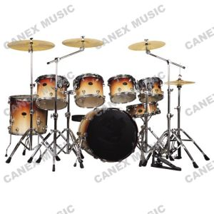 Drum Set 7 PCS/ Drum Kit Wood Professional (DP227TH) pictures & photos