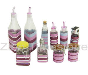 Glass Jar With Weaving-Oil Bottle (TM1208) pictures & photos
