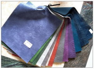 Color Nubuck Leather for Bag pictures & photos