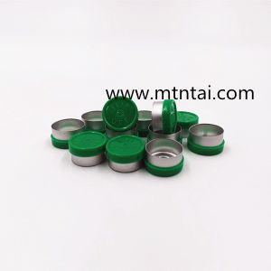13mm Flip Top Caps in Green Color
