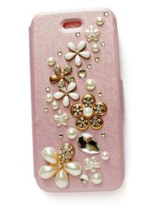 Fashion Crystal PU Leather Cellphone Cases