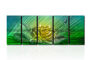 Home Decoration Metal Wall Art with 3D Effect- Yellow Flower (CHB6014076) pictures & photos
