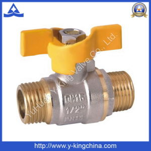 Male Threaded Brass Butterfly Ball Valve (YD-1012) pictures & photos