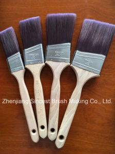 Wooden Handle Slash Tapered Filament Paint Brush for Au Market