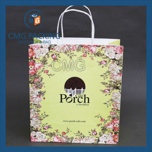 Flower Printed Paper Bag for Cosmetic (CMG-MAY-045) pictures & photos