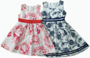 Children Beautiful Dress for Summer in Children Clothing (SQD-105)