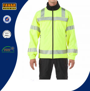 Wholesale Traffic Hivis Waterproof Reflective Safety Softshell Jacket