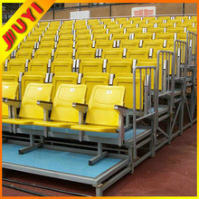 Jy-716 Stadium Seat Collapsible Hot Selling Outdoor Aluminum 2015 Best Indoor Gym Bleachers Telescopic Seating Audience Chair