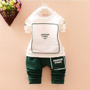 1946e6035 Ks1091 Spring Autumn Simple Style Baby Cotton Sport Set Long Sleeve Chinese  Sets Bear Shirt+