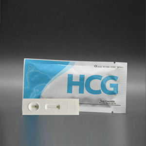 Ce Approved Rapid HCG Pregnancy Cassette Test Pregnancy Card Test pictures & photos