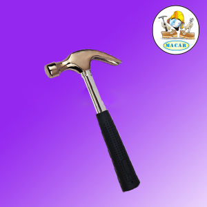 U. K. Type Full Polished Claw Hammer with Fiber Glass Handle