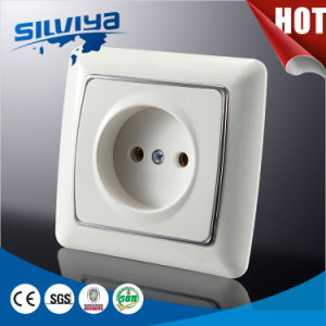 European 1 Gang 2pin Wall Socket pictures & photos