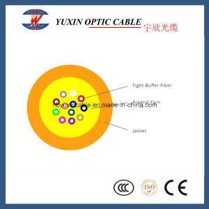 4-24 Fibers Sm and mm LSZH or PVC Tight Bufferd Distribution Indoor Fiber Optic Cable (GJFJV)