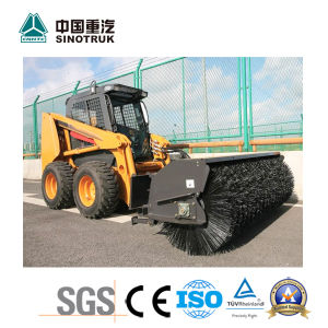 China Best Skid Wheel Loader of 375A with Road Sweeper pictures & photos