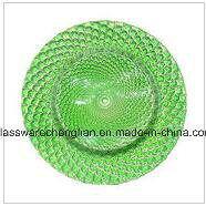 Machine Made Fancy Designs of Glass Plate (P-006) pictures & photos