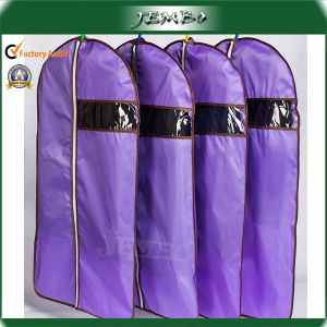 Cheap Purple PE Plastic Zipper Suit Garment Bag pictures & photos