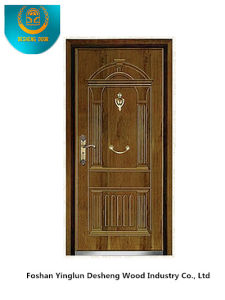 Classic European Steel Door with Carving for Entrance (b-3009) pictures & photos