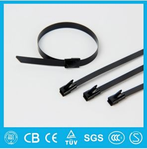 High Performance Full Epoxy Coated Self Locking Stainless Steel Cable Tie pictures & photos