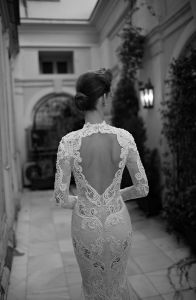 Long Sleeves Berta Bridal Gowns Mermaid Lace Beading Wedding Dress B16302 pictures & photos