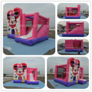 Cheap Commercial Inflatable Bouncer Combo, Pink Combo Slide for Girl B2195 pictures & photos