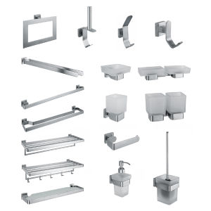 Hot-Selling SUS304 Stainless Steel Toilet Accessories Combination (3300)