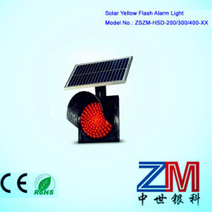 Hot Selling 200/300/400 Solar Powered Red Flashing Traffic Warning Light pictures & photos