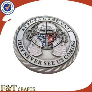 Cool Antique Soft Enamel Souvenir Custom Metal Challenge Coin (FTCN001J) pictures & photos