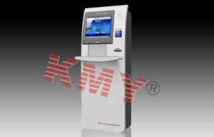 Touch Screen Barcode Scanner Kiosk pictures & photos