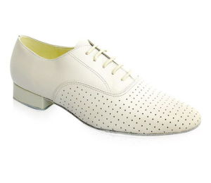 White/Beige Leather Men′s Tango/Standard Dance Shoes