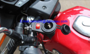 12 V Motorcycle Cigarette Lighter Socket with Switch for Handlebars pictures & photos
