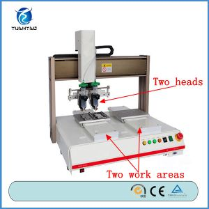 CE Certification Automatic Desktop Hot Melt Glue Dispenser Machine pictures & photos
