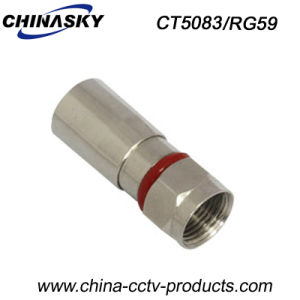 Water-Proof Male Compression CCTV F Adapter for Rg59 Cable (CT5083/RG59) pictures & photos