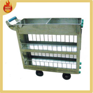 Stainless Steel Train Food Delivery Service Cart pictures & photos