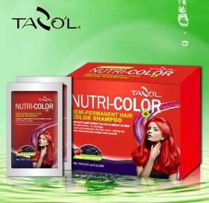 Tazol Nutri-Color Semi-Permanant Hair Color Mask with Rose Red pictures & photos