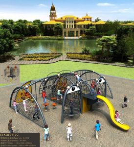 Kaiqi Fun and Unique Looking Children′s Outdoor Climbing Playground with Slide (KQ50117C) pictures & photos
