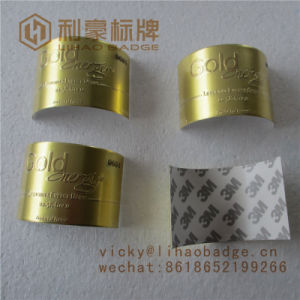 Gold Foil Adhesive Sticker Metal Curved