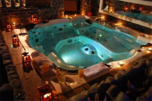 Hot Tubs Massage Whirlpool Outdoor Jacuzzi Spas with LED Light