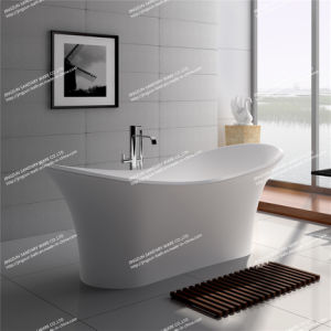 Modern Design Solid Surface Freestanding Bathroom Mineral Bathtub (JZ8614)
