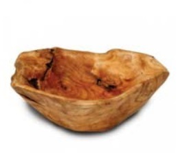 Natural Color #2230 Handly Carved Wooden Fir Root Large Bowl