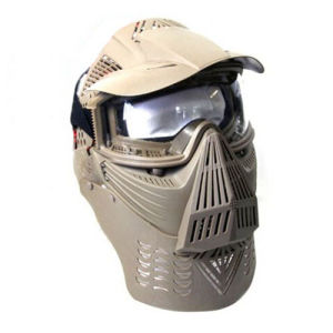 Full Face Airsoft Goggle Lens Mask with Neck Protect pictures & photos