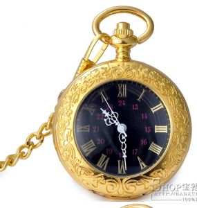 Customer Design Quartz Movement Gold Pocket Watch