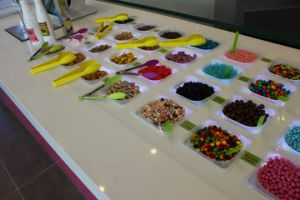 Topping machine for opening frozen yogurt store pictures & photos