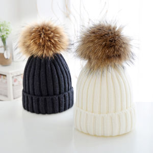 Winter Knitted Hat with Ball Top pictures & photos