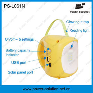 LED Solar Camping Lantern with Mobile Phone Charger for Camping or Emergency pictures & photos