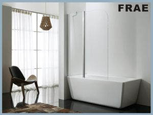 Simlpe Bath Tub Screen with Transparent Glass