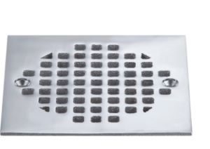 Square Shower Drain Cover.Chrome Plated Brass Shower Drain Cover With Sliver Colour