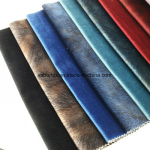 Woven Velvet Polyester Home Textile Upholstery Sofa Fabric pictures & photos